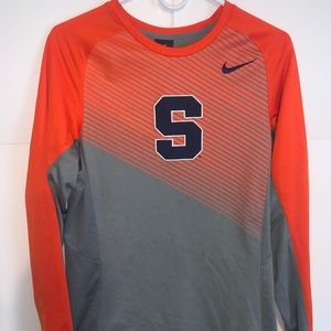 Men's Nike Syracuse Orange Long Sleeve Shirt Sz S